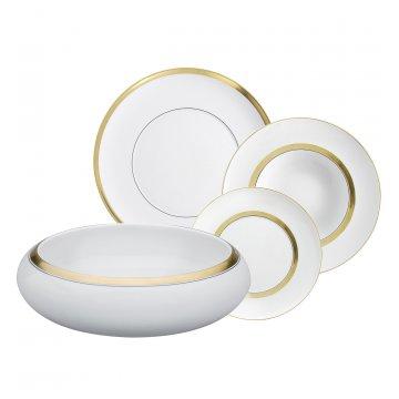 Serviço jantar 66 peças Domo Gold Vista Alegre