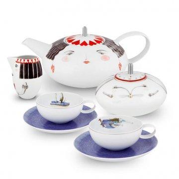 Serviço Chá 9 peças Tea Wiht Alice Vista Alegre Atlantis