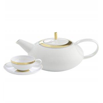 Serviço Chá 15 peças Domo Gold Vista Alegre Atlantis